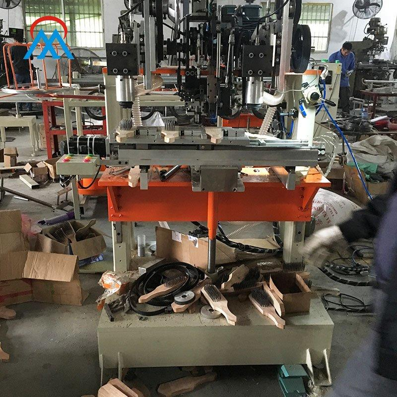 4 Axis CNC High Speed Coil Of Wire Brush 2 Drilling And 1 Tufting Machine MX405