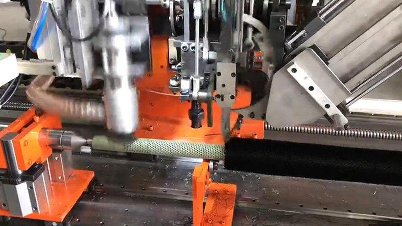 2 Axis 1-Head Drilling and 1 Tufting Round Rod Brush Machine