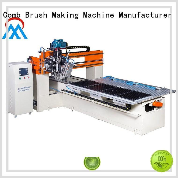 Meixin cost effective 2 aixs cloth brush machine three colors brush for factory