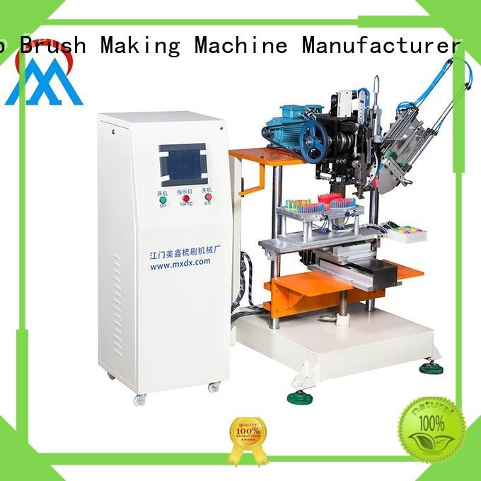 making 2 Axis Brush Making Machine three colors brush for floor clean
