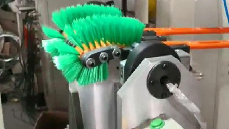Double hockey toilet brush Machine made by MEIXIN manufacture PZ-12