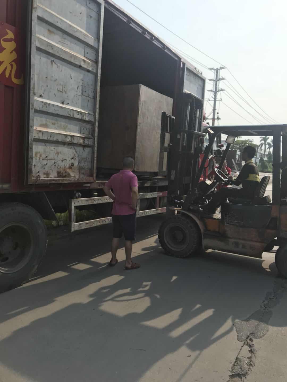 Meixin-India cargo 2Aixs Broom Make Machine and 1set Industrial flat brush tufting machine loading t-1