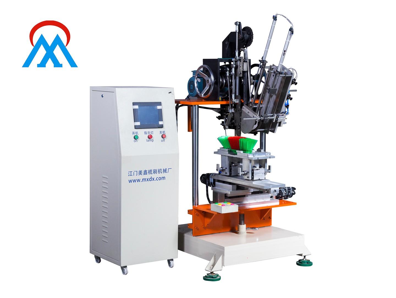 Meixin-India cargo 2Aixs Broom Make Machine and 1set Industrial flat brush tufting machine loading t-4