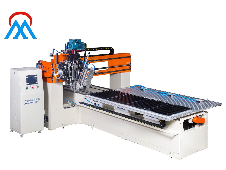 Meixin-India cargo 2Aixs Broom Make Machine and 1set Industrial flat brush tufting machine loading t-5