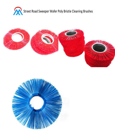 Street Road Sweeper Wafer Poly Bristle Cleaning Brushes