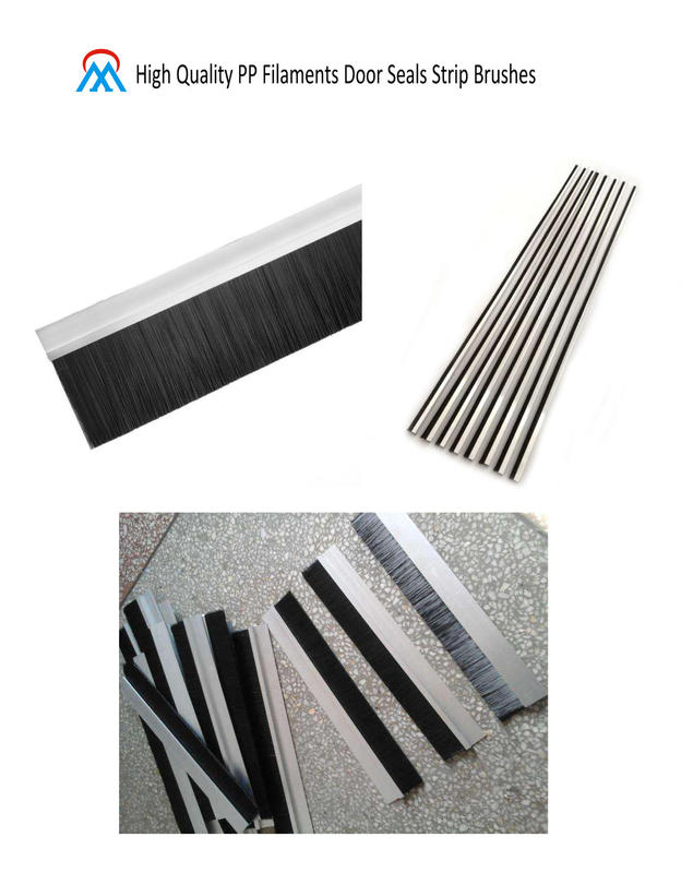 High Quality PP Filaments Door Seals Strip Brushes
