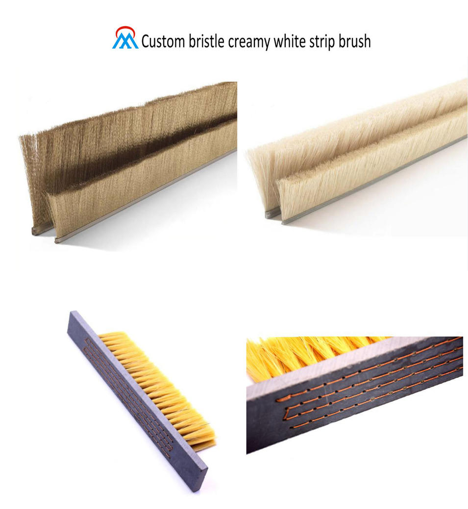 Custom bristle creamy white strip brush