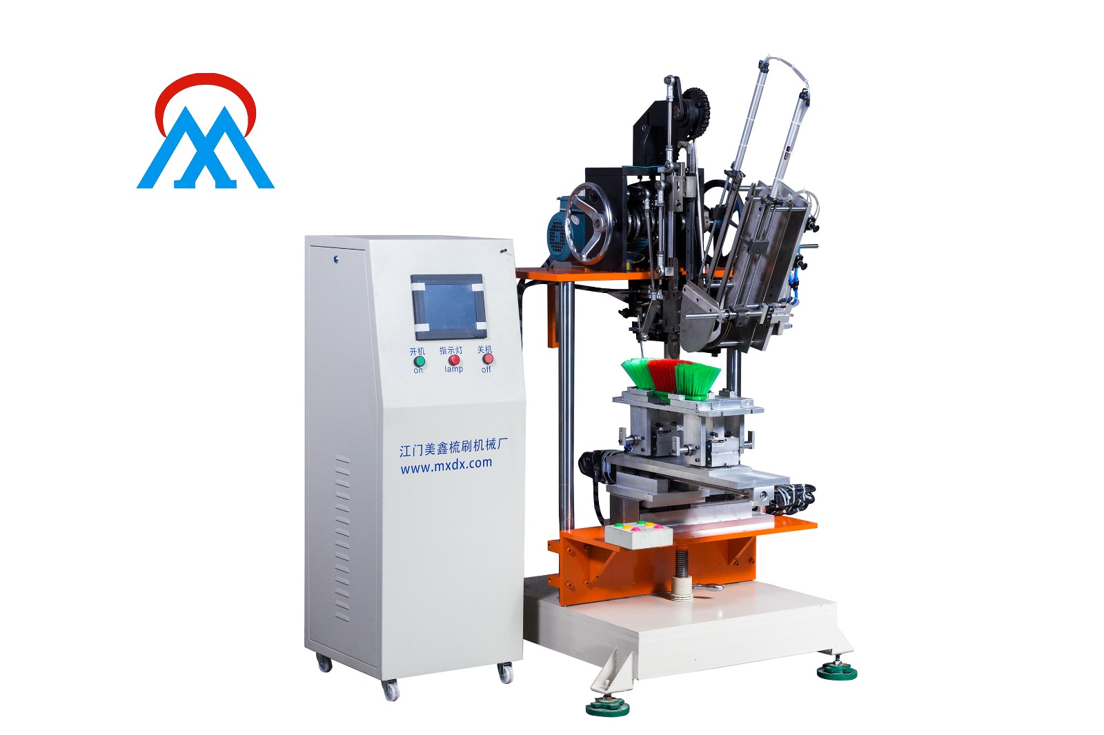 Meixin-High Quality 4 Axis 2 Color Broom Tufting Machine Factory