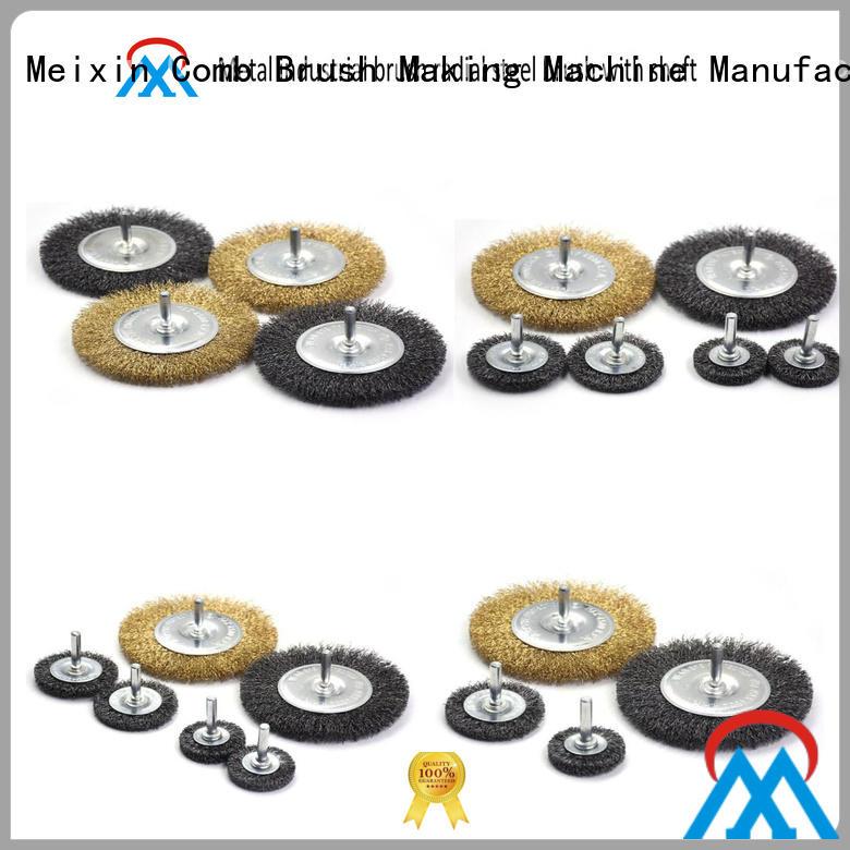 Meixin durable microfiber wheel brush customized for factory